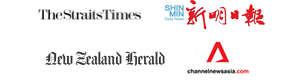The Straits Times, Shin Min, New Zealand Herald, Channel News Asia